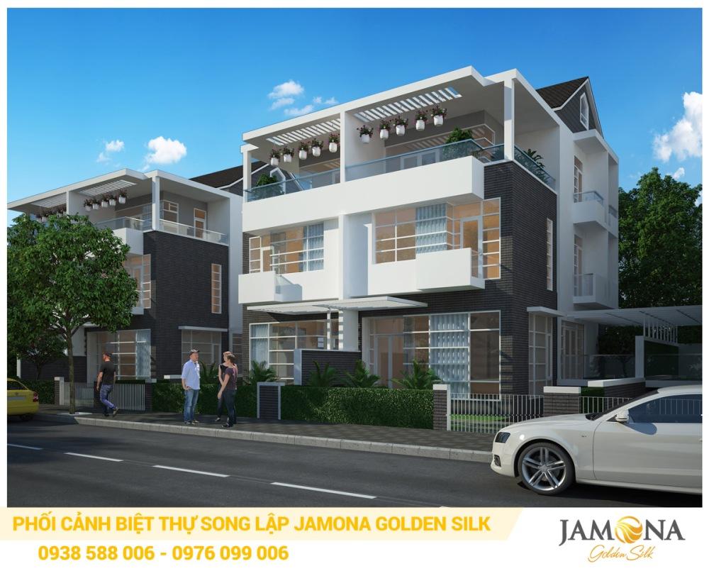 Phối cảnh biệt thự song lập trong dự án Jamona Golden Silk quận 7