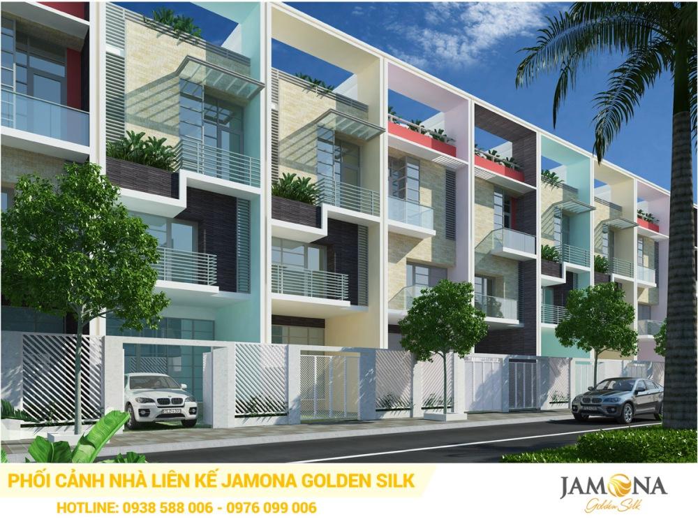 Thiết kế mặt ngoài của nhà phố Jamona Golden Silk quận 7